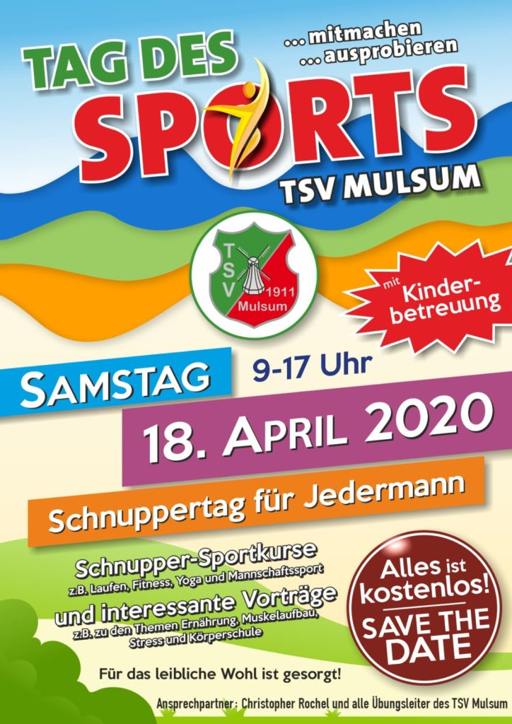 Tag des Sports des TSV Mulsum am 18.04.2020