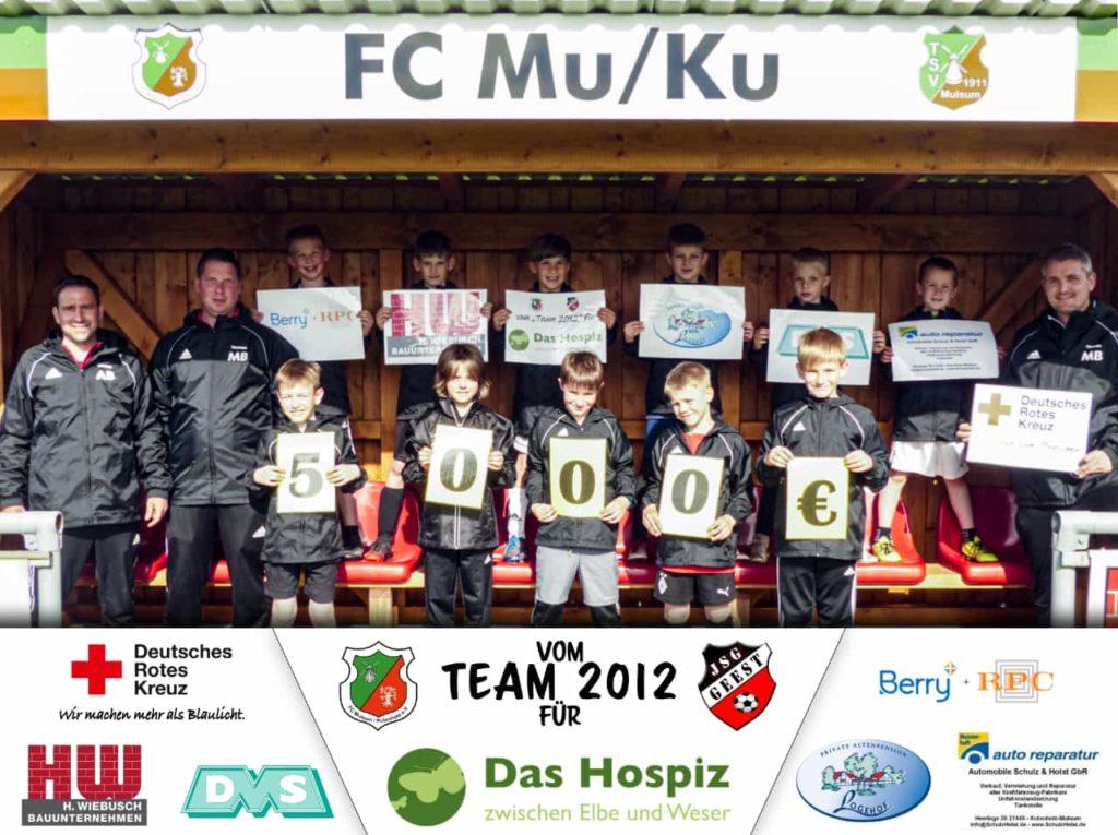"""Trotz Corona in Bewegung bleiben … aber für einen guten Zweck!   Der FC Mulsum/Kutenholz organisiert einen Spendenlauf! Unser """"Team 2012"""" der JSG Geest läuft für guten Zweck!"""